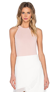 EGREY American High Collar Bodysuit in Light Pink