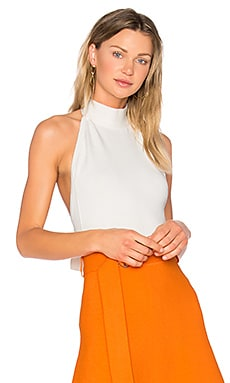 High Neck Bodysuit in Off White