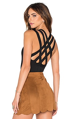 EGREY Crossed Back Bodysuit in Black