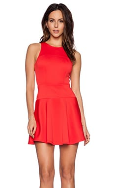 Eight Sixty Fit & Flare Dress in Coral