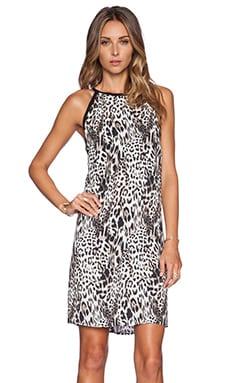 Eight Sixty Chloe Cutout Dress in Black & Brown