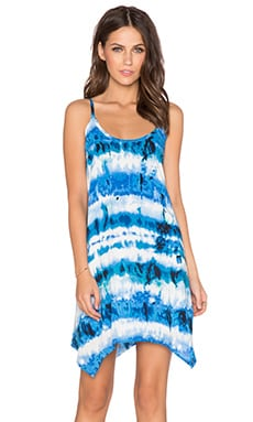 Eight Sixty Tie Dye Dress in White & Blue