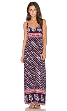 Eight Sixty Pennylane Maxi Dress in Navy & Red