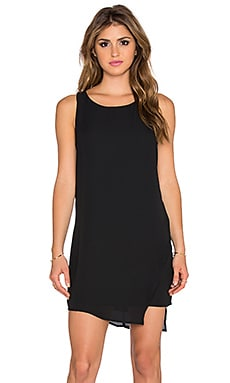 Eight Sixty Overlay Shift Dress in Black & Black