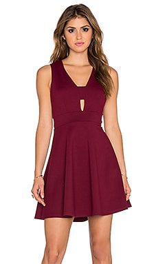 Eight Sixty Cut Out Fit & Flare Dress in Raspberry