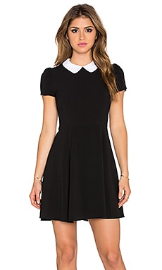 Eight Sixty Peter Pan Collar Dress in Black