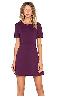 Fit & Flare Dress in Plum Noir