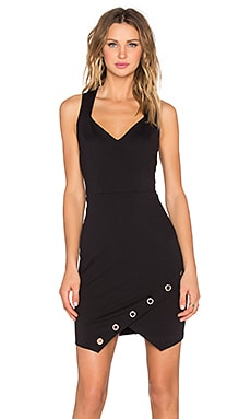 Eight Sixty Grommet Racerback Dress in Black