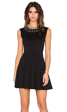 Eight Sixty Jewel Trim Dress in Black