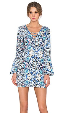 Broken Bloom Dress in Blue & Multi