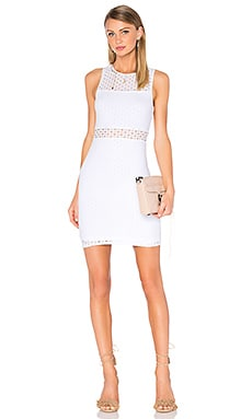 Sleeveless Eyelet Mini Dress en Blanc
