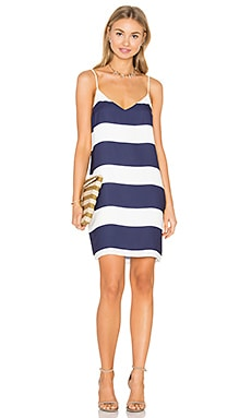 Eight Sixty Shift Dress in Navy & White