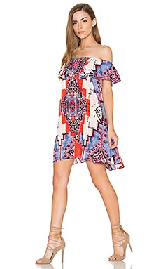 Montauk Dress in Blue, Red & Blush