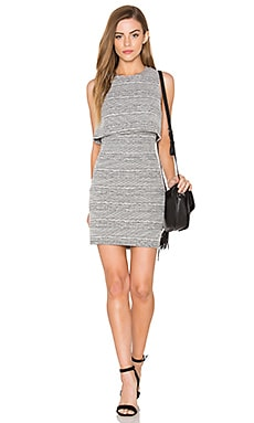 Knit Cutout Dress in White & Black
