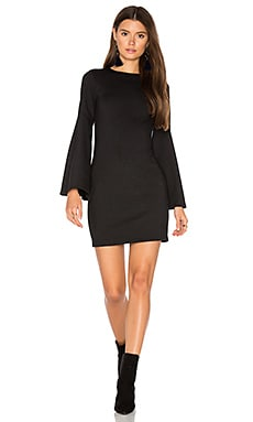Bell Sleeve Dress in Black