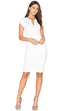 V Neck Dress in White Spring