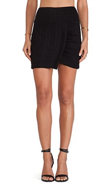 Eight Sixty Cable Knit Mini Skirt in Black