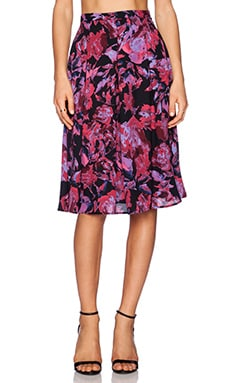 Eight Sixty Midi Skirt in Black, Fuchsia & Orchid