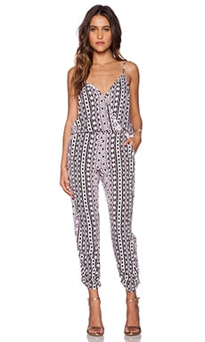 Eight Sixty Rhapsody Jumpsuit in Purple & Black & White