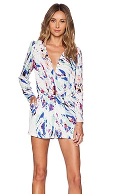 Eight Sixty Colors of the Wind Romper in White & Royal & Mint