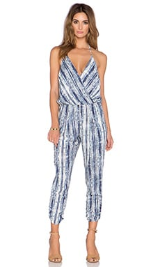 Eight Sixty Casablanca Halter Jumpsuit in Navy & White