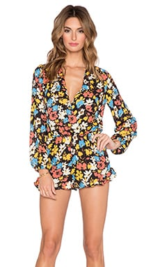 Eight Sixty Kelly Floral Romper in Black