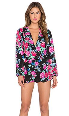 Eight Sixty Night Garden Romper in Neon Fuchsia
