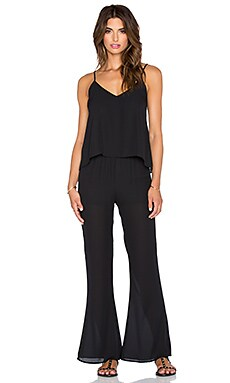 Eight Sixty Flare Leg Jumpsuit in Black
