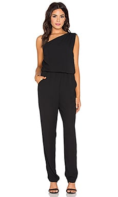 Eight Sixty One Shoulder Jumpsuit in Black
