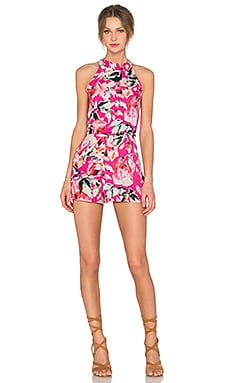 Stella Romper in Fuchsia, Blush & Black