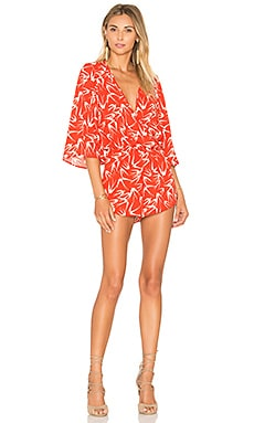 Eight Sixty In Flight Romper in Chili & Shell