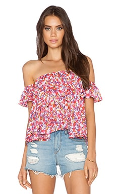 Eight Sixty Orchid Flutter Top in Pink & Mauve