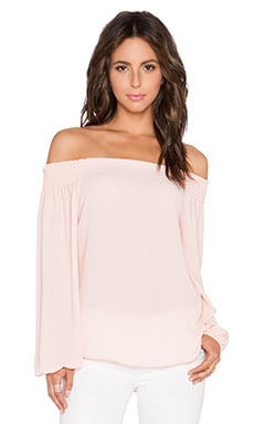 Eight Sixty Off Shoulder Top in Peach Rose