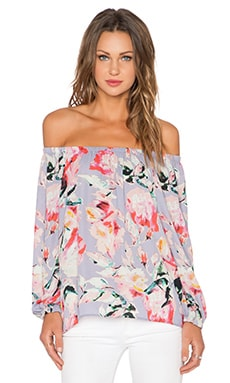 Eight Sixty x REVOLVE Off the Shoulder Top in Lavender, Pink & Black