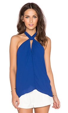Eight Sixty Knotted Top in Collegiate Blue