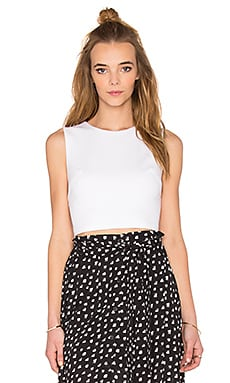 Ponte Crop Top in White