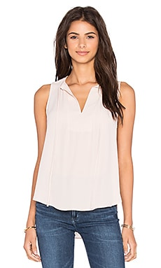 Eight Sixty Sleeveless Tie Top in Silver Peony