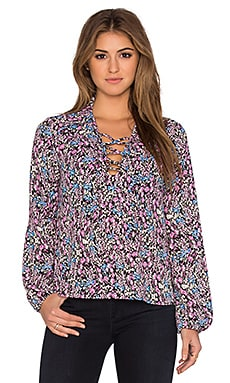 Zoe Floral Top in Pink Multi