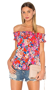 Eight Sixty Off The Shoulder Top in Red Multi