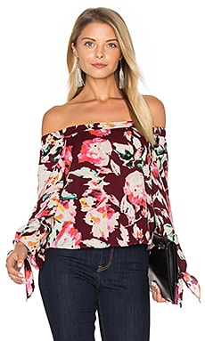 Off The Shoulder Blouse in Merlot