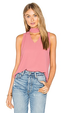 Sleeveless High Neck Blouse in Malaga