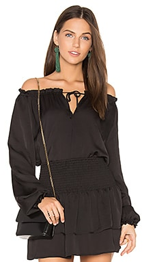 Neck Tie Top en Noir