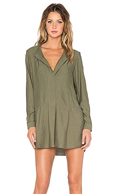 Erin Kleinberg Handsome Mick Dress in Army Green