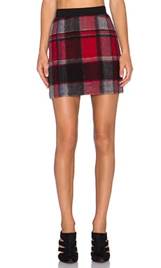 Erin Kleinberg THAT Plaid Skirt in Red