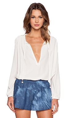 Erin Kleinberg Le Husband #1 Blouse in White