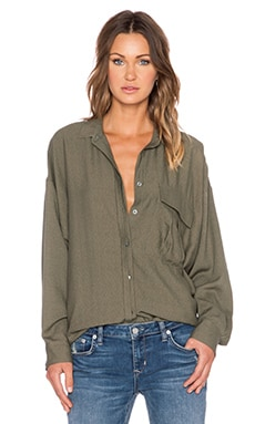 Erin Kleinberg That EK Army Shirt in Army Green