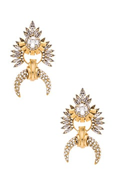 Earring en Golden Crystal