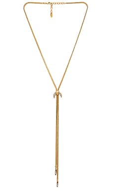 Elizabeth Cole Necklace in Golden Crystal