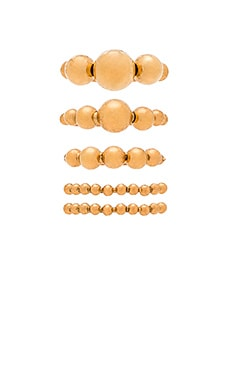Elizabeth Cole Ring Set in Golden Glow