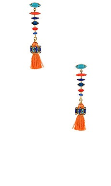 Earrings in Red & Tangerine